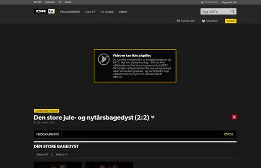 Geoblokering ved forsøg på at se dansk tv i udlandet