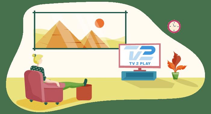 kan man se tv2 play i udlandet?